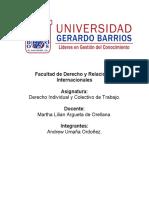 Derecho Individual y Colectivo de Trabajo actividad 2