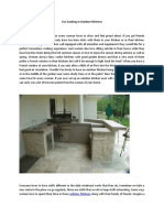 Fun Cooking In Outdoor Kitchens