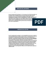 Analisis del Entorno y del Sector Agropecuaria