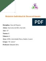 Relatório individual do 2º Periodo - Ana Luísa