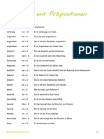 Deutsche Grammatik Adjektive Mit Praepositionen