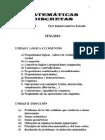 TEMARIO DE MATEMATICAS DISCRETAS 1