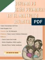 PROGRAMA DE PREVENCIÓN PRIMARIA DEL MALTRATO INFANTIL. PRODUCTO FINAL