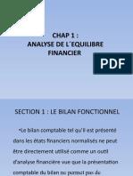 Chap 1 analyse de l´équilibre financier