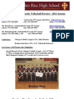 Preview- Brother Rice Volleyball- 2011 Season