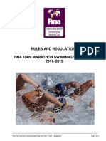 Marathon Swimming Rules and Regulations 2011-2013