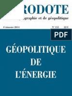 Magazine Herodote 155-Geopolitique de l energie