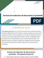 Services de traduction de documents en ligne - The Spanish Group