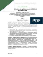 Ley N° 1600 Sistema de Regulación Sectorial (SIRESE)