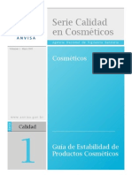 Estabilidad de productos cosmeticos