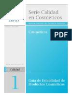 Estabilidad de productos cosmeticos