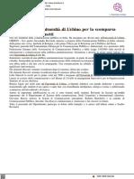 Il cordoglio dell'Università di Urbino per la scomparsa di Alessandro Rovinetti - Il Metauro.it, 31 agosto 2021