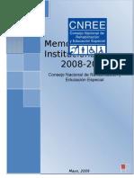 CNREE Memoria Final 2008 - 2009