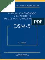 APA. Manual Diagnóstico y Estadístico de Los Trastornos Mentales. DSM-5