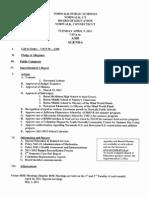 Agenda for 4/5/2011