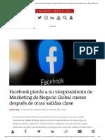 Facebook pierde a su vicepresidente de Marketing de Negocio