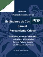 Estándares de competencia para el pensamiento crítico - SP-Comp_Standards-1