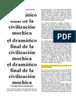 El Dramático Final de La Civilización Moche