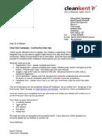 KCC Litter Picking paperwork