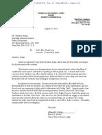 Letter of Judge Schiltz