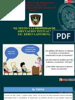 Diapositiva - El texto y la propiedad de adecuación textual