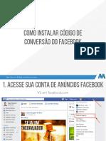 Como Instalar Código de Conversão Facebook