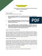 RM N° 001.2014 - Normas Generales de Gestion Educativa