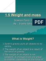 1.5 Weight and mass