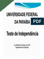 Teste de Independência