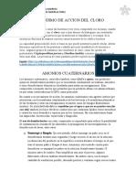 Mecanismo de Accion Del Clor1