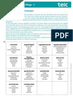Arbeitsblatt 9 Trainingseinheiten Deutsch Pflege