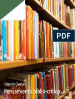 Pensamiento bibliotecológico crítico