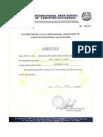 Certificado de Excel