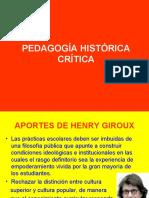 PEDAGOGÍA HISTÓRICA CRÍTICA