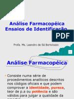 Aula Análise Farmacopeica Parte 1 Identidade Aula 3