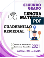 2° ESPAÑOL- CUADERNILLO  REMEDIAL - ALUMNO