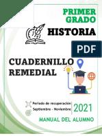 1° HISTORIA- CUADERNILLO  REMEDIAL - ALUMNO