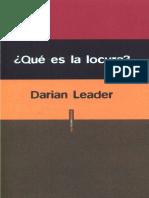 Darian Leader Que Es La Locura 1