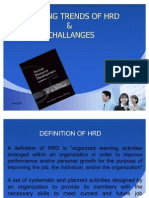 trends and challanges of HRD
