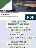 Unidad 1 - Ecuacion Cuadrática