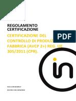 F101-6 CRP EN 1090-IT Certification Rules CPR