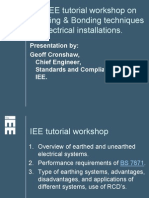 IEE Earthing & Bonding Tutorial