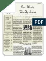 Newsletter Volume 3 Issue 14