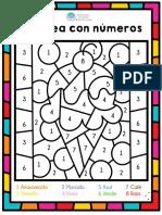 Colorea con números