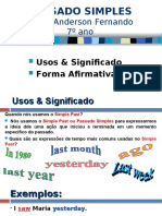 PASSADO SIMPLES PPT 1