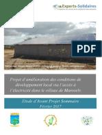 Rapport Étude Davant Projet Fev 2017 Marosely