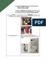 Manejo de productos químicos y Manipulación de productos químicos trabajo