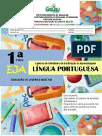 DIAGNÓSTICO L. PORTUGUESA 1ª ETAPA EJA