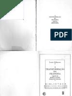Louis Althusser - A Transformação da Filosofia, seguido de Marx e Lênin perante Hegel (1989, Edições Mandacaru) - libgen.lc
