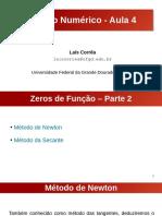 Aula 4 - Zeros de Função (Parte 2)